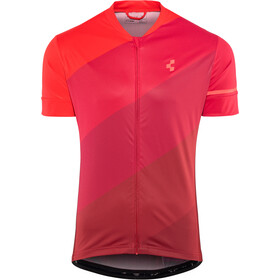 Cube Tour Jersey met Doorlopende Rits Heren, red pattern